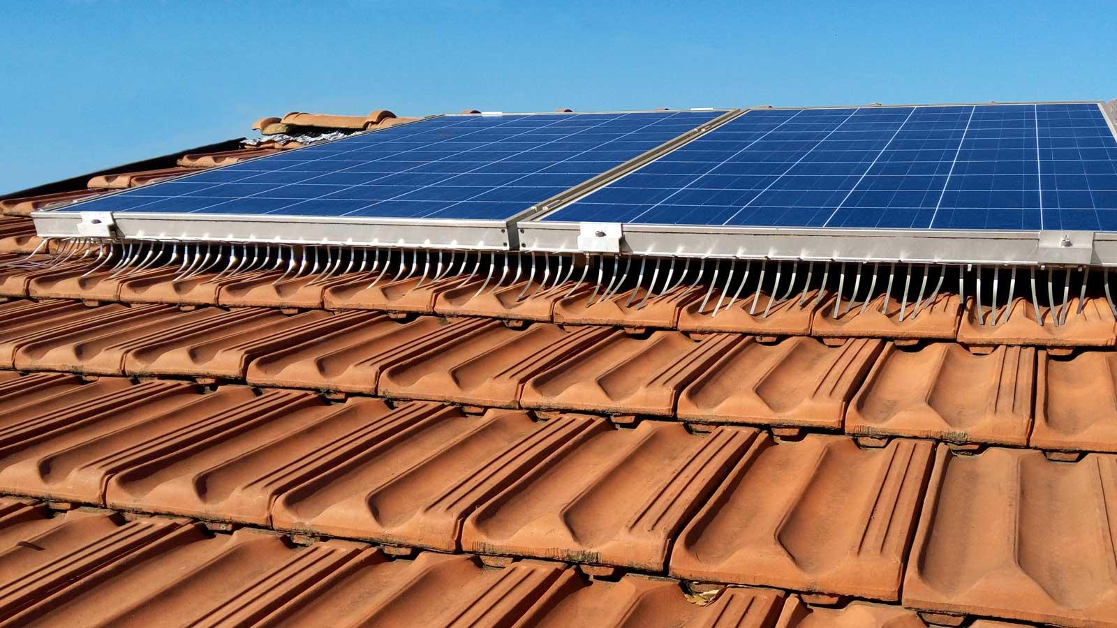 barriera anti volatili isidoro system installata su impianto fotovoltaico