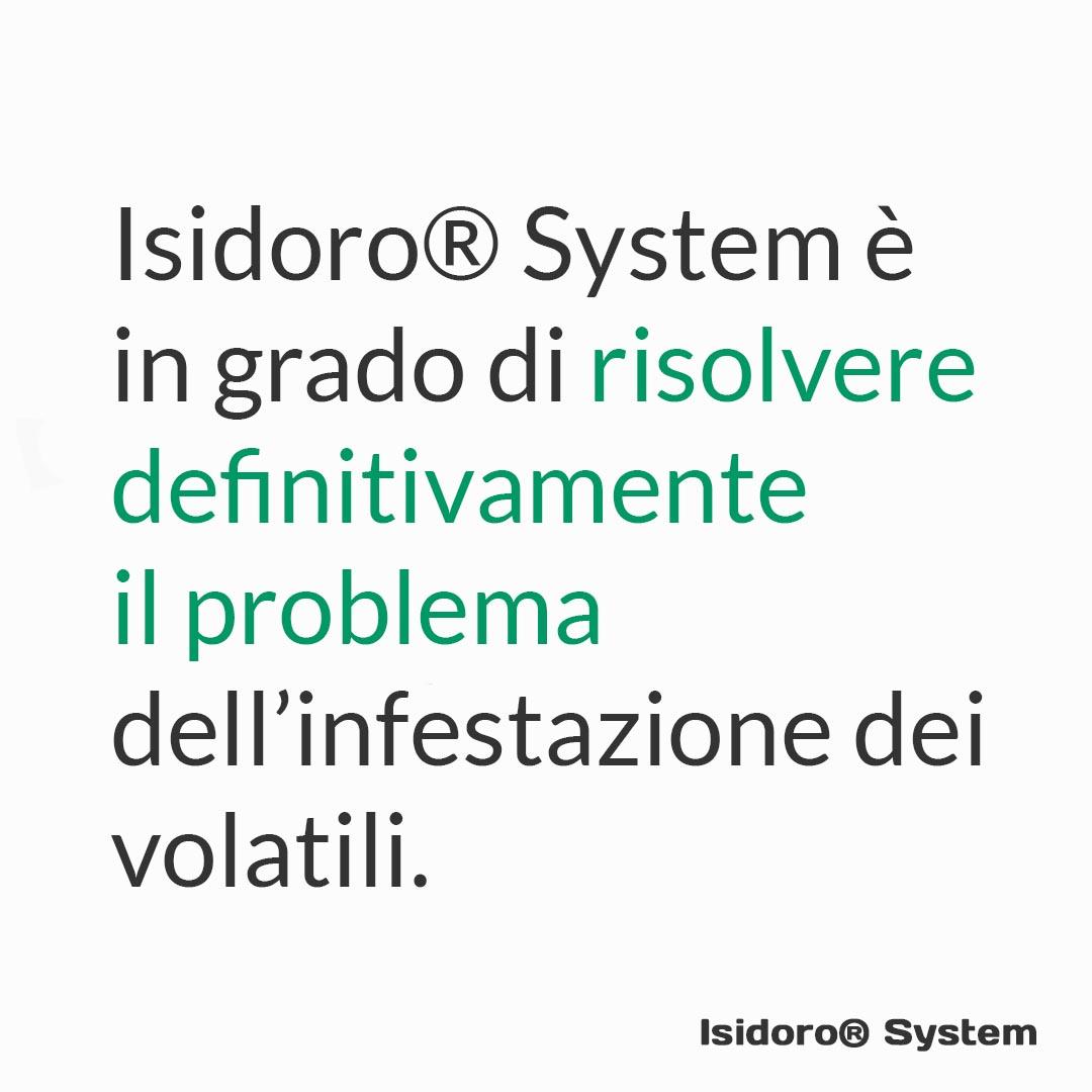 Isidoro System è in grado di risolvere definitivamente il problema dell'infestazione dei volatili